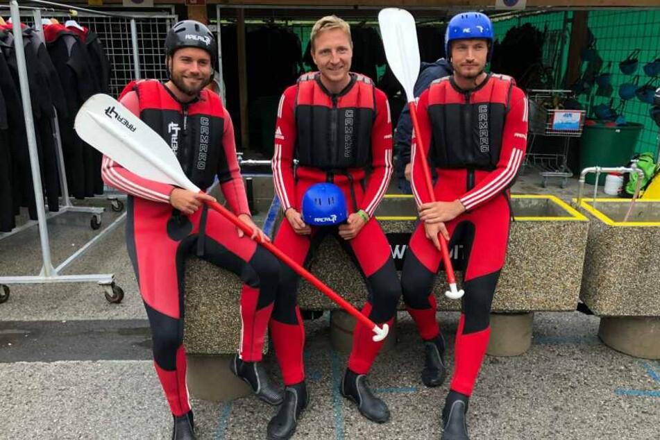 Niklas Kreuzer, Marco Hartmann und Florian Ballas sind bereit.
