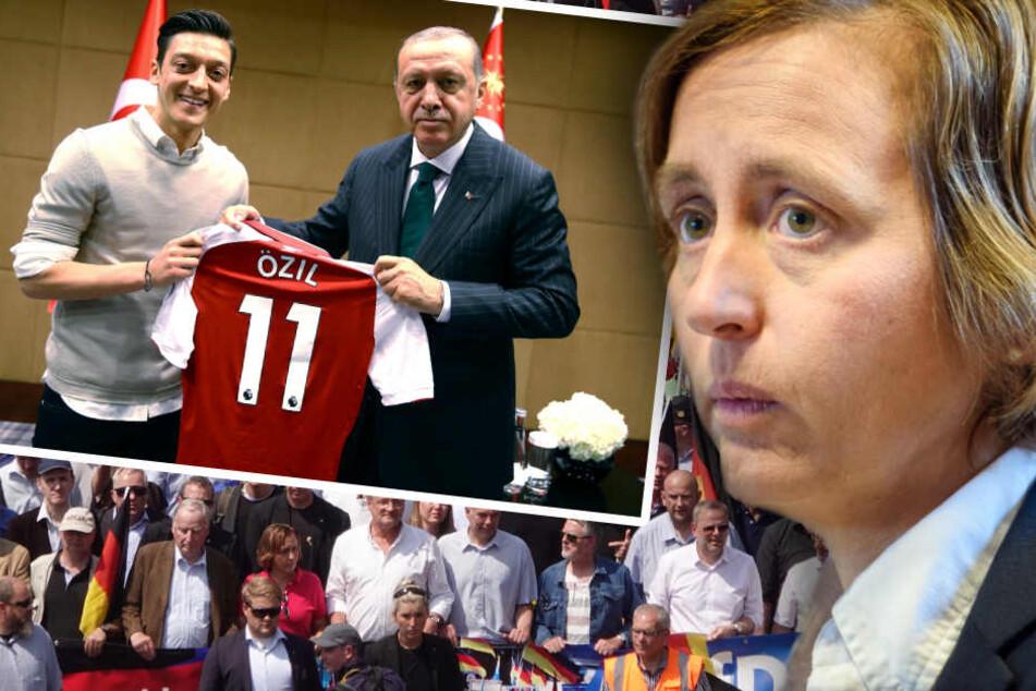 Özils Auftritt mit Präsident Erdogan nahm von Storch als Grundlage ihre Anti-Islam-Rede. (Bildmontage)