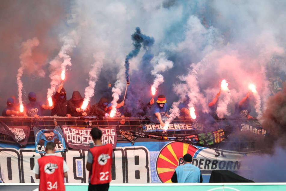 2000 Fans waren aus Paderborn mitgefahren.