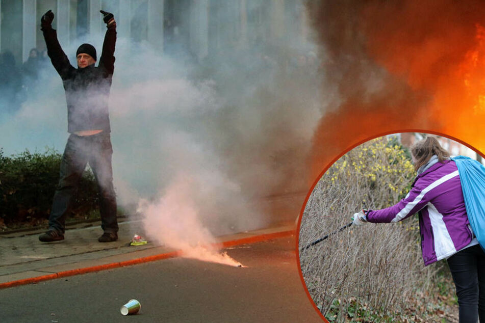 Fegen, Demonstrieren, Barrikadenbau - So verrückt wird der 18. März in Leipzig