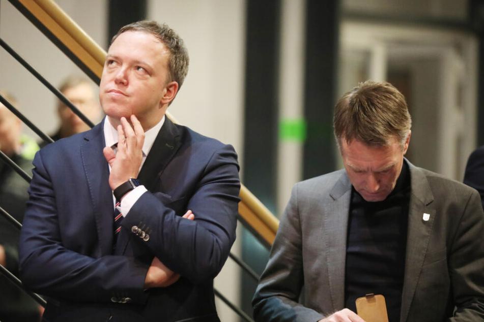 Mario Voigt (li.) und Raymond Walk von der CDU sind bei den Verhandlungen mit dabei.