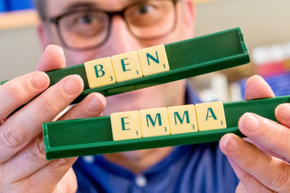 Ben und Emma sind die beliebtesten Vornamen des Jahres 2018.