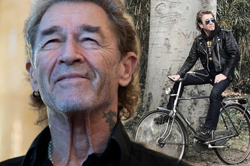 Altrocker Peter Maffay (69) fährt auch mal gerne mit dem Fahrrad. (Bildmontage)