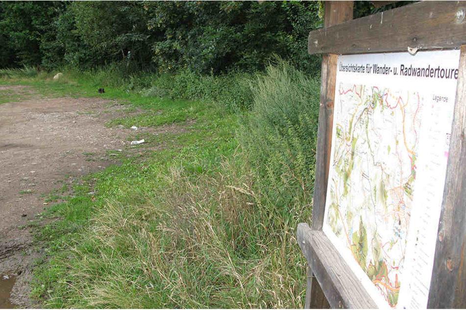 Hier auf diesem Wanderparkplatz in Callenberg wurde die junge Frau fast entführt.