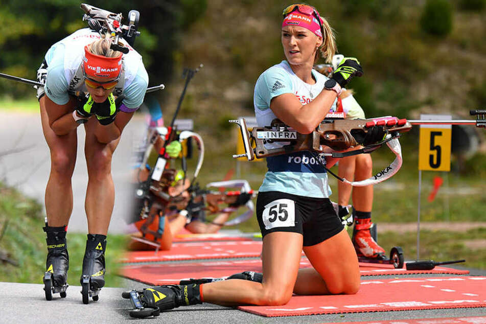 Auf Rollski durch den Wald: Denise Herrmann ballert um Deutsche Meisterschaft mit