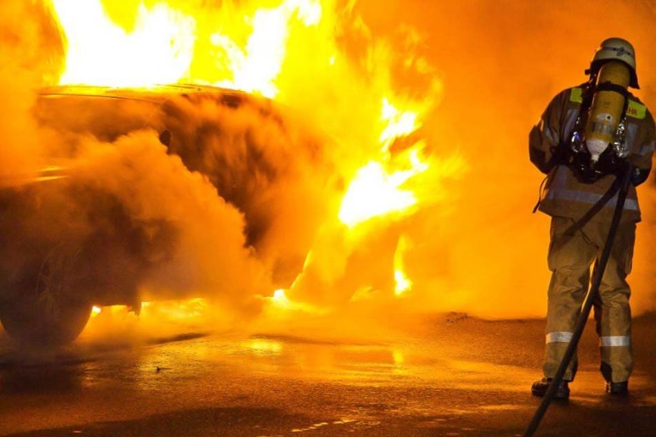 Sechs Autos zündete der Brandstifter bewusst an, acht weitere wurden auch beschädigt. (Symbolbild)