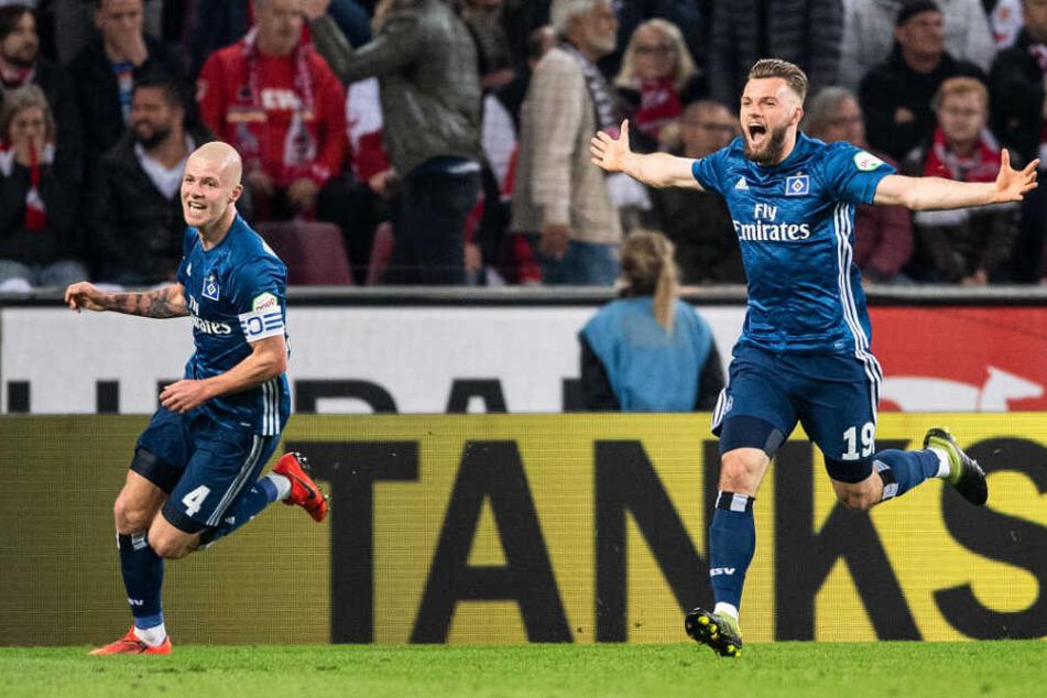 Joker Manuel Wintzheimer jubelt über sein ersten Treffer im Dress des HSV.