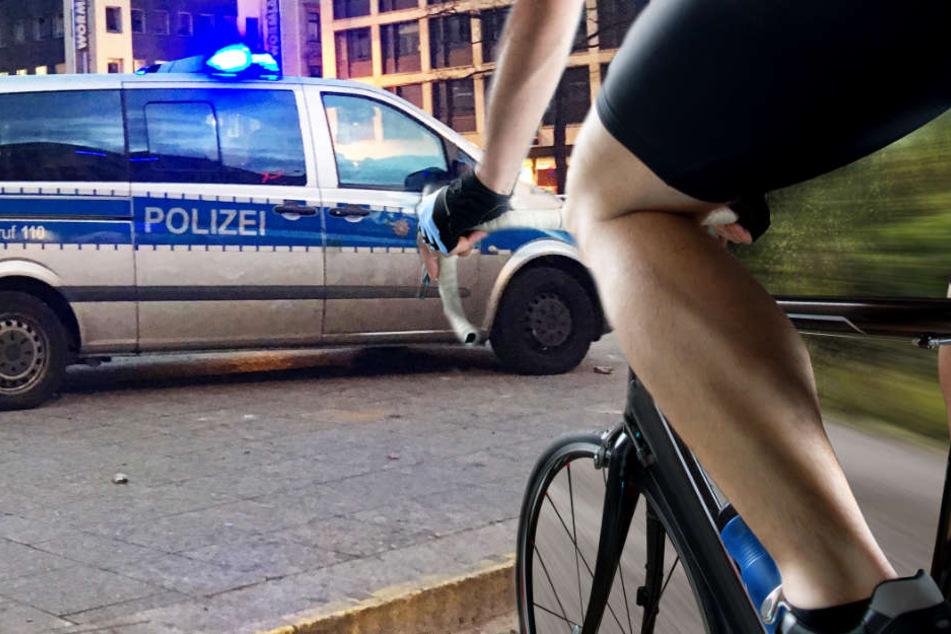 Die Polizei fahndet nach dem unbekannten Rennradfahrer (Symbolbild).