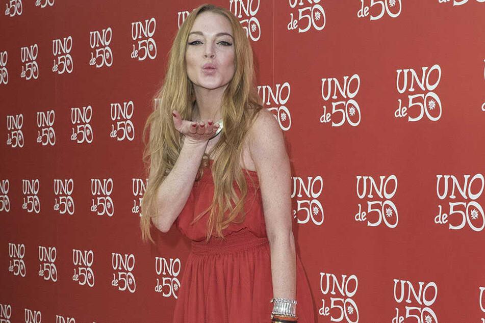 Pop-Sternchen Lindsay Lohan hat sich ein merkwürdiges Halloween-Kostüm ausgesucht.