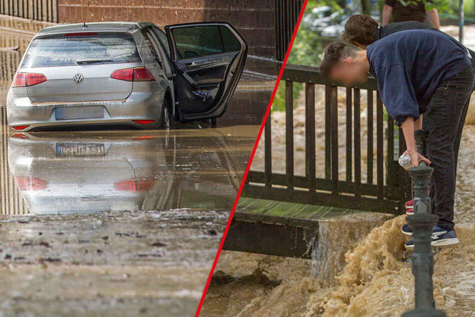 Heftige Überschwemmungen: Dieser Landkreis versinkt komplett in den Fluten