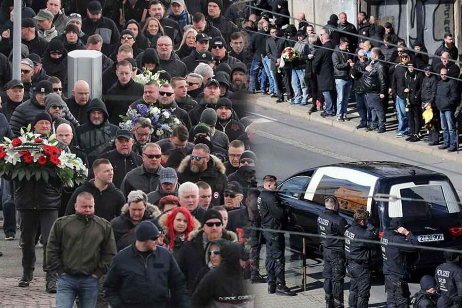 """Chemnitz: 1000 Teilnehmer und 1000 Polizisten bei Trauerfeier für """"HooNaRa""""-Gründer"""
