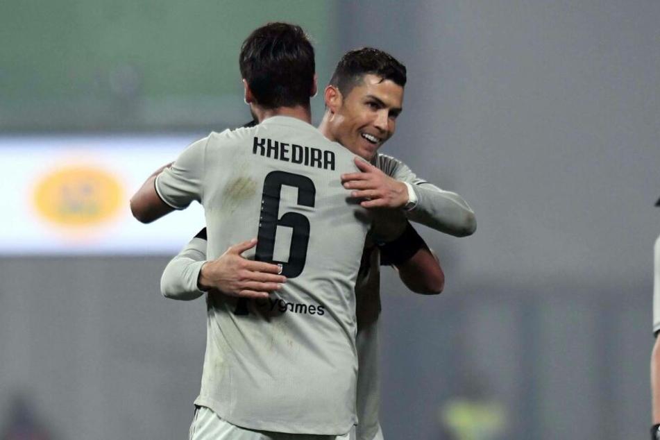 Sami Khedira spielt bei Juventus Turin mit Superstar Cristiano Ronaldo zusammen.