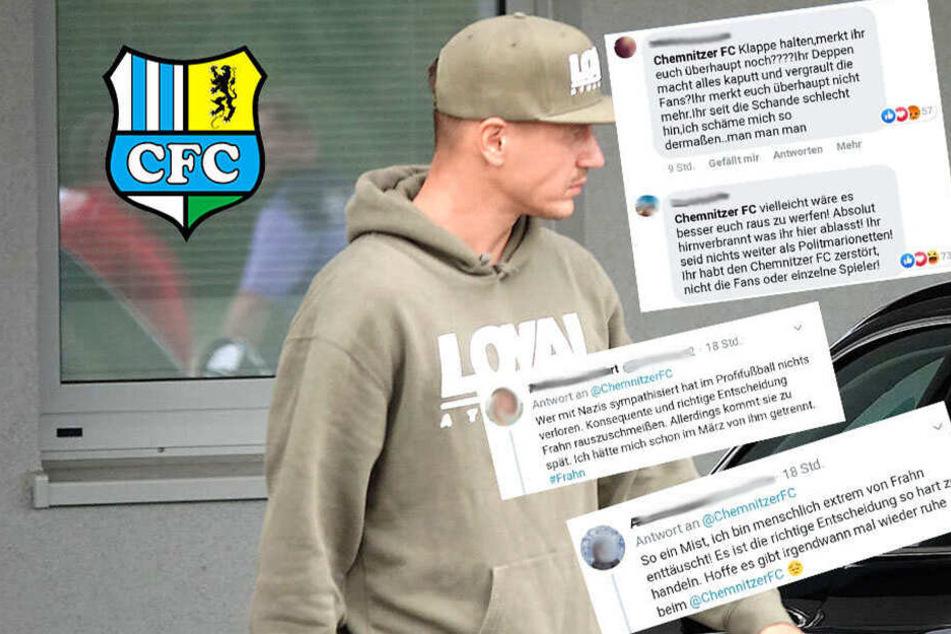 CFC-Fans zwiegespalten! Soziale Netzwerke kochen nach Frahn-Rauswurf über