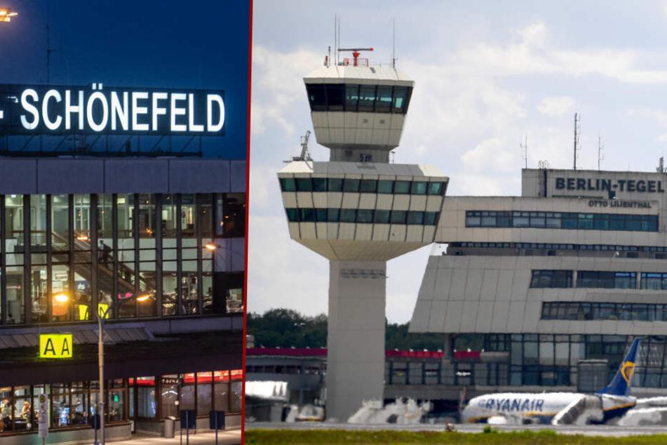 Schüsse in Schönefeld, Verdächtiges Gepäckstück in Tegel: Flughafen-Chaos in Berlin!