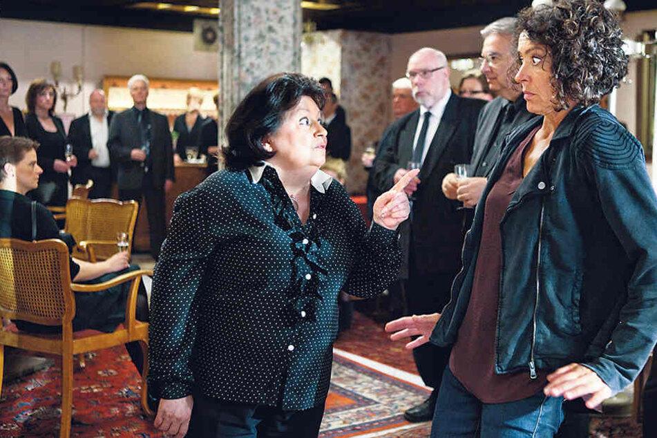 Da erschreckt sich Lena Odenthal: Ulrike Folkerts (55) trifft heute auf Laien-Darsteller wie Malou Mott als Sophie Fetter.