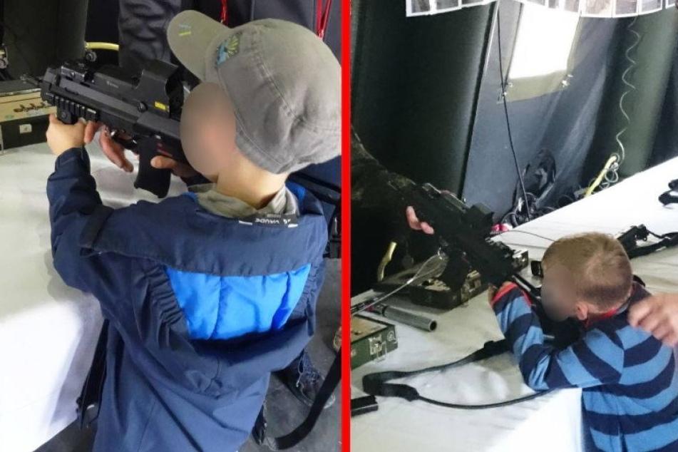 Ärger bei der Bundeswehr: Soldaten lassen Kinder mit Waffen hantieren