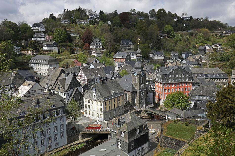 Ende April: Die Strassen in Monschau sind leer. Aufgrund der Maßnahmen zur Eindämmung des Coronavirus ist der Tourismus in der Eifel zum Erliegen gekommen.