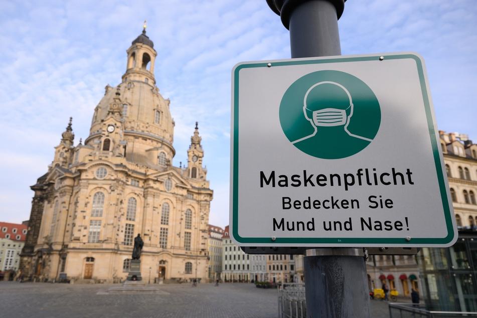 Die Corona-Inzidenz in Sachsen und in Dresden sinkt langsam weiter ab.