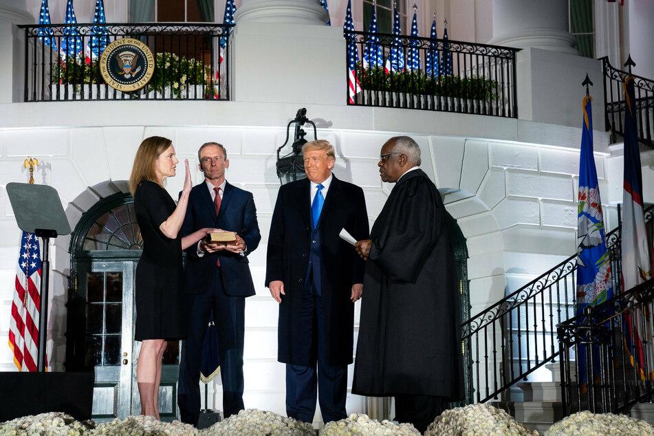 Trump celebrates confirmation of Amy Coney Barrett as Supreme Court justice