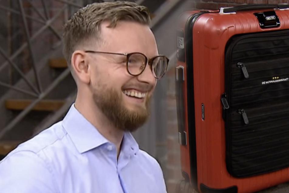 Der 30-jährige Stefan Harpering ist zunächst zuversichtlich und glaubt, dass die Händler viel für seinen Koffer zahlen werden.