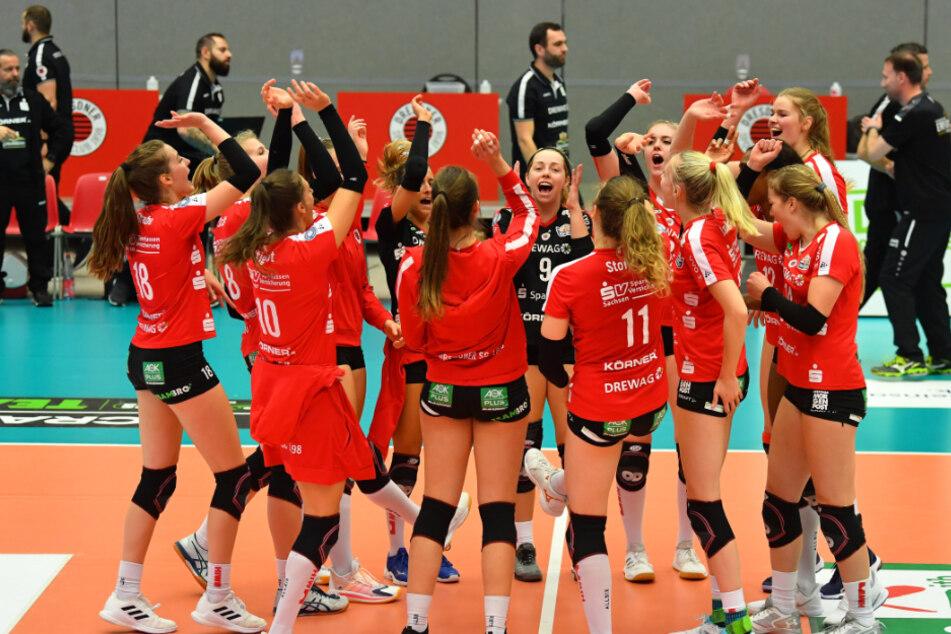Siege gegen Aachen und Erfurt. Die Volleyballerinen waren zuletzt wieder auf Kurs.