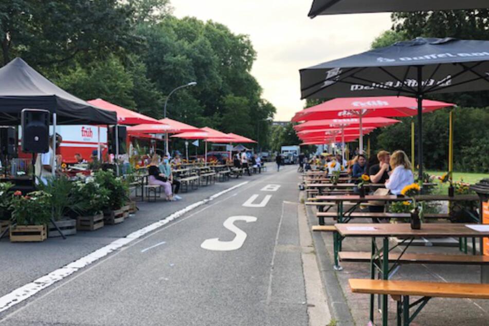"""Neuer Kölner """"Corona-Biergarten"""": So lief der Start"""
