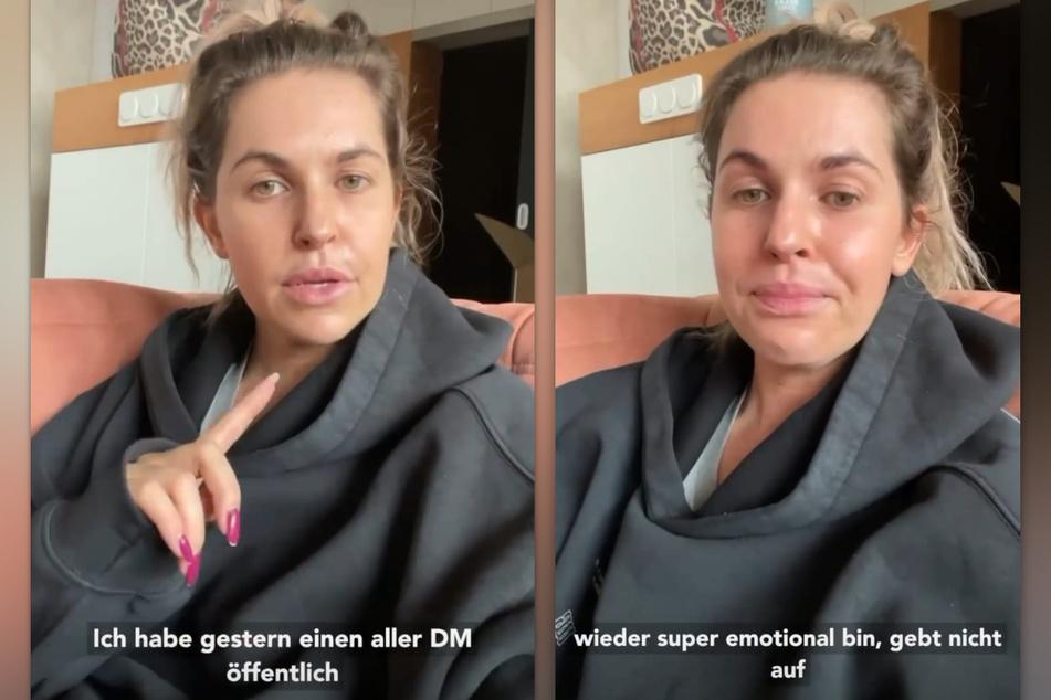 Ines Anioli (35) kann die Tränen in ihrem Statement auf Instagram nur schwer zurückhalten. (Fotomontage)