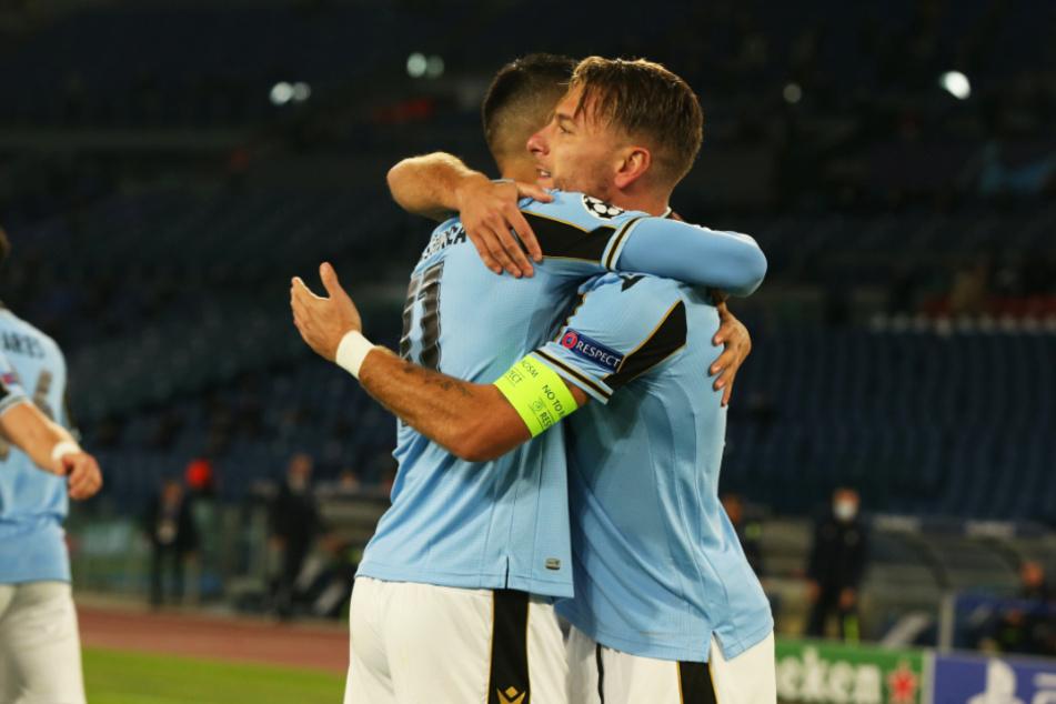 Ausgerechnet Ciro Immobile (r.) traf gegen seinen Ex-Klub! Der frühere BVB-Stürmer erzielte ein Tor und gab eine Vorlage - der Lazio-Kapitän war der Mann des Spiels.