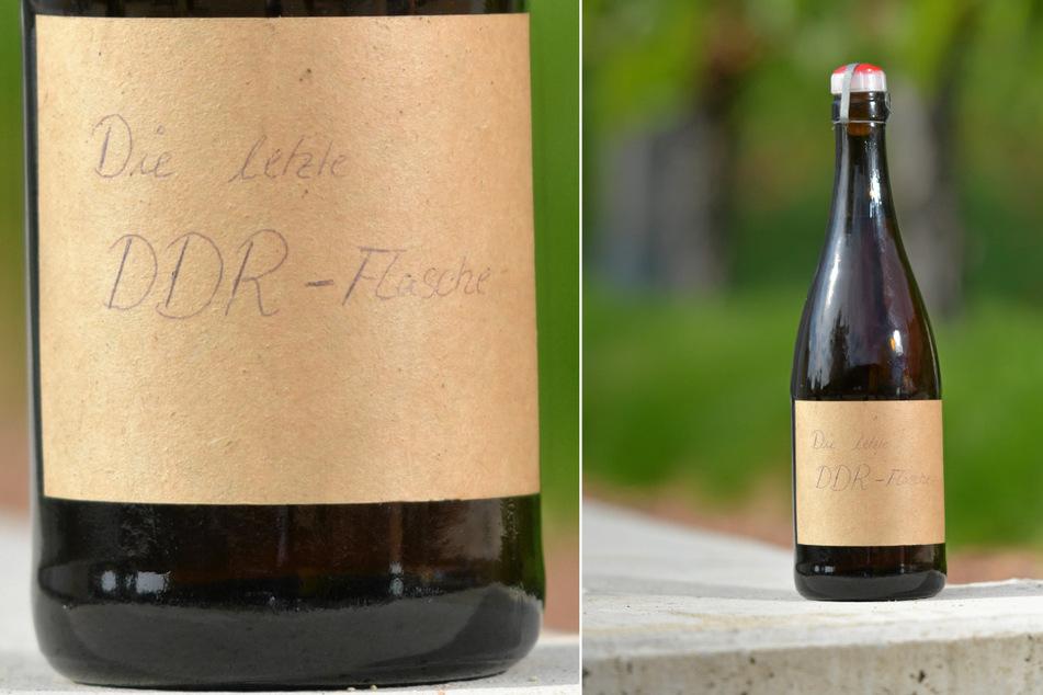 """""""Die letzte DDR-Flasche"""" - der Sekt wurde bis zur Wende aus Weinen aus Ungarn, Italien und Jugoslawien hergestellt."""