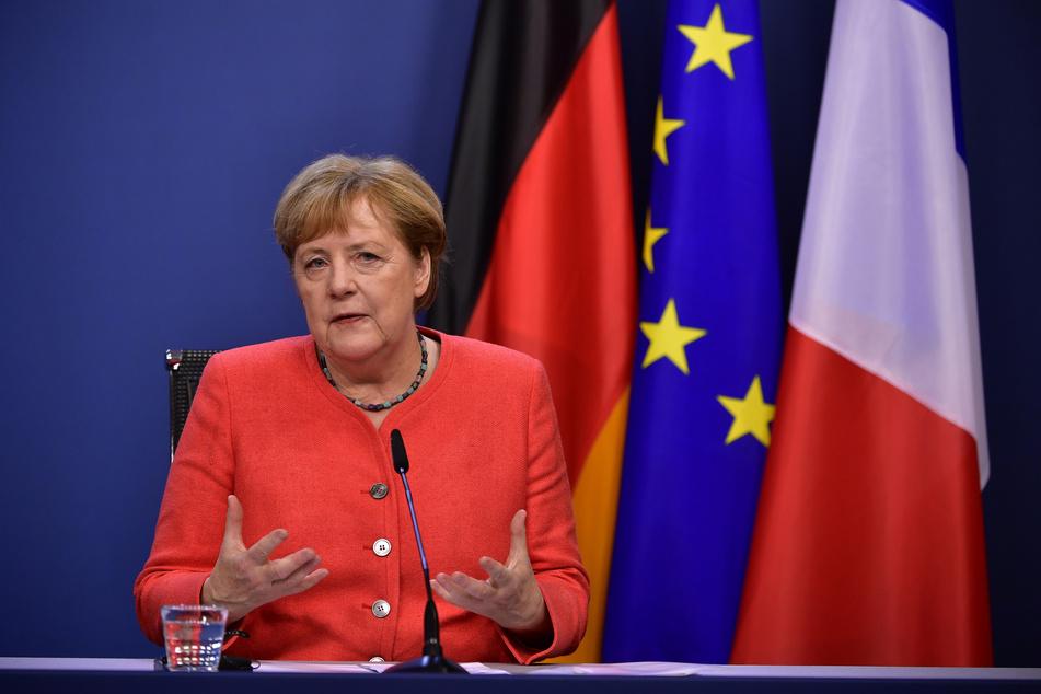 Bundeskanzlerin Angela Merkel auf der Pressekonferenz zum Abschluss des EU-Gipfels.