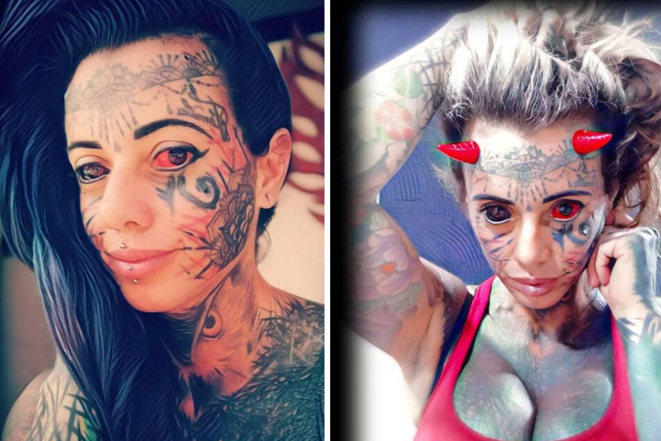 """Brazilian """"demon woman"""" shares her most painful body modification"""