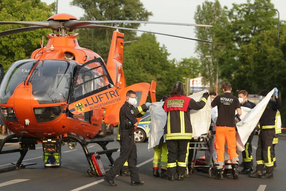 Mit dem Rettungshubschrauber kam der Junge ins Krankenhaus. (Symbolbild)
