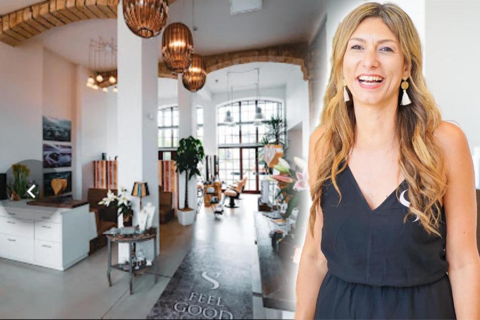 """Susann Schwanebeck (46) in ihrem Laden """"die Haarmanufaktur"""". Das Helfen liegt ihr ebenso am Herzen wie ihr Handwerk."""