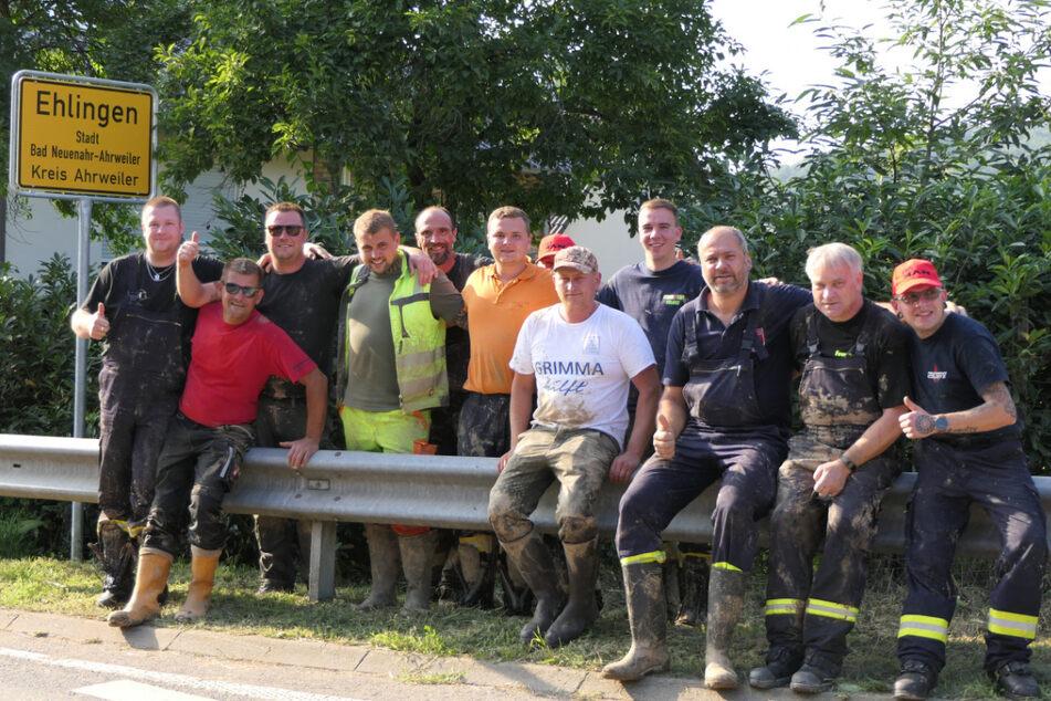 Die Hilfskräfte aus dem Landkreis Leipzig unterstützen die Region um Ahrweiler seit fast einer Woche unermüdlich.