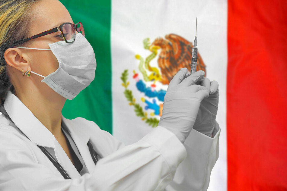 Because of the shortage, Mexico got a loan of 2.7 million AstraZeneca vaccines from America. With only 1% of the population fully vaccinated, the country lags far behind (stock image).