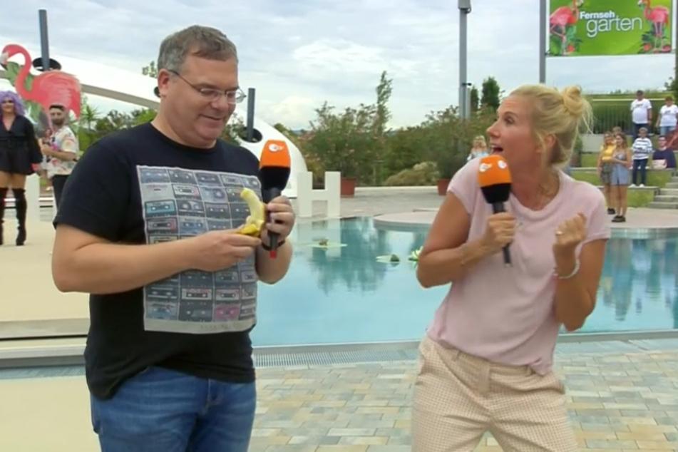 """Fernsehgarten""-Wahnsinn: Co-Moderator Elton kann's nicht glauben"