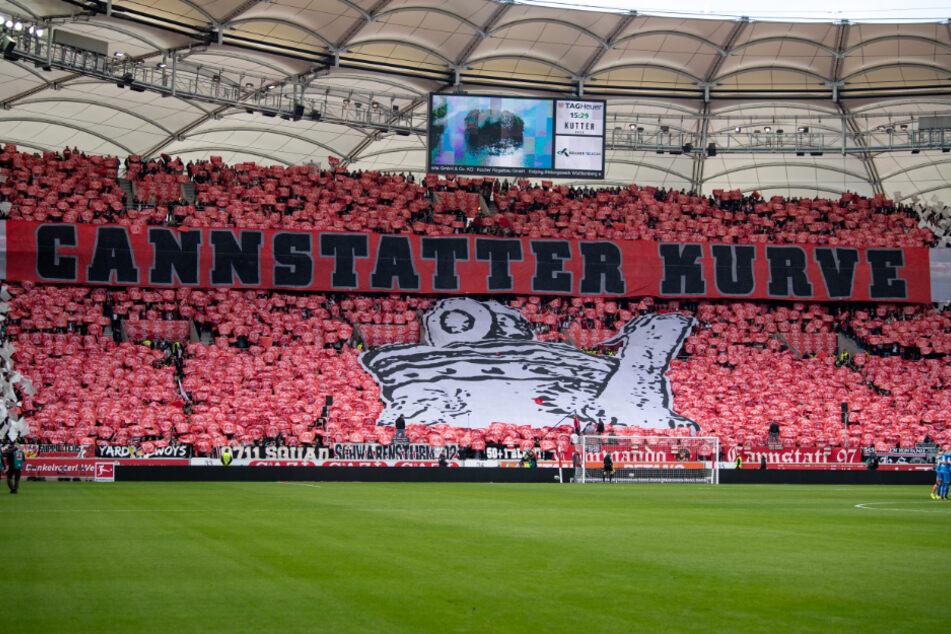 Ein Bild aus der Kurve aus Bundesliga-Zeiten: In der Saison 2018/19 gegen die TSG 1899 Hoffenheim.