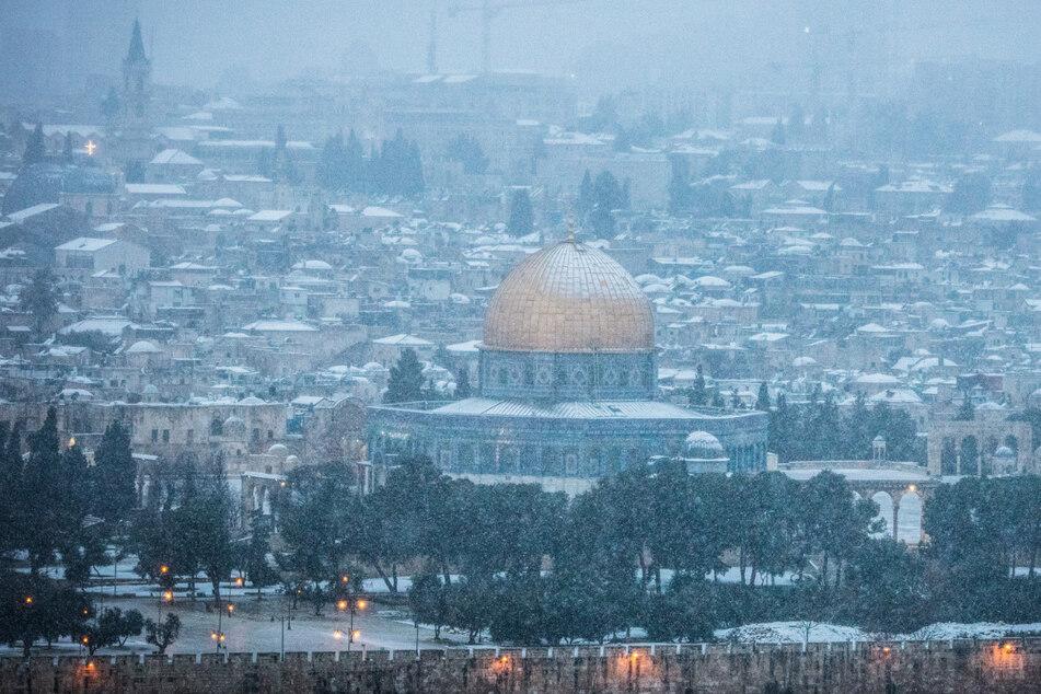Das gab's seit Jahren nicht! Schneefall in Jerusalem