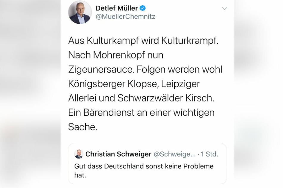 Rassismus-Vorwurf: Die Jusos kritisieren den Tweet von Detlef Müller.