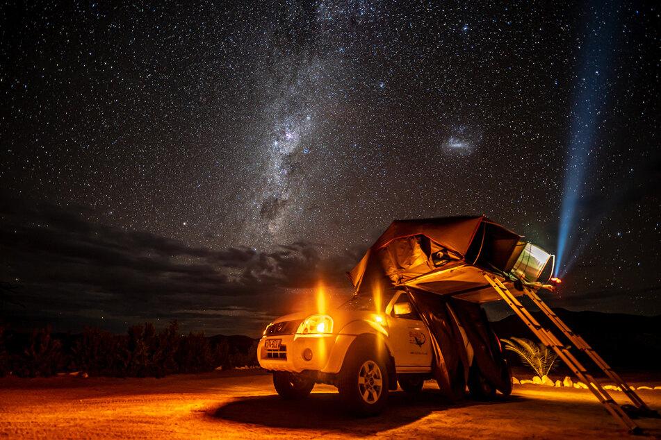 Das Lieblingsfoto von Fabian: Entstanden mitten in der Nacht in der Namibwüste.