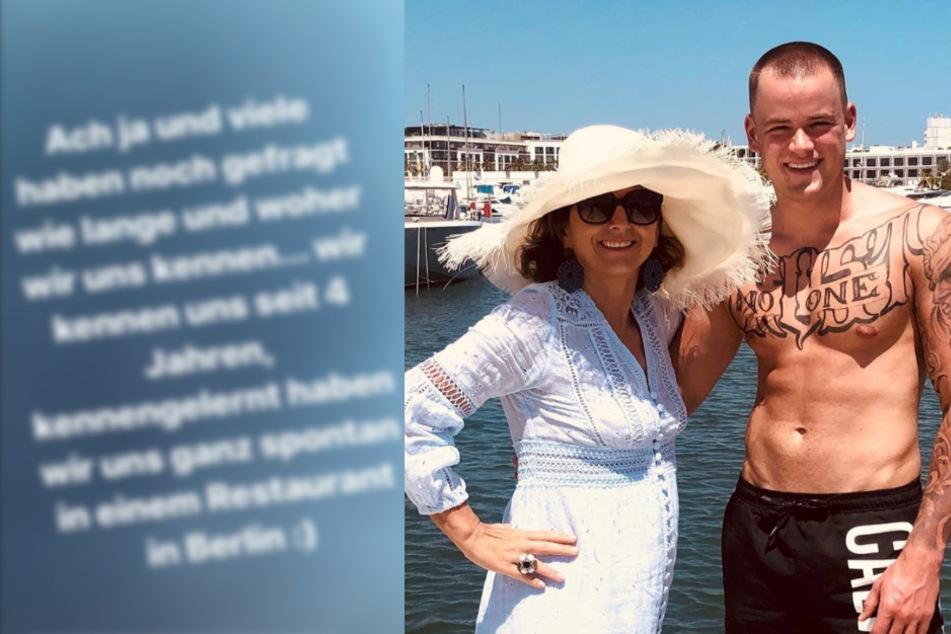 Was läuft denn da? Claudia Obert (58) und Jenny Elvers' Sohn (18) genießen Luxusurlaub
