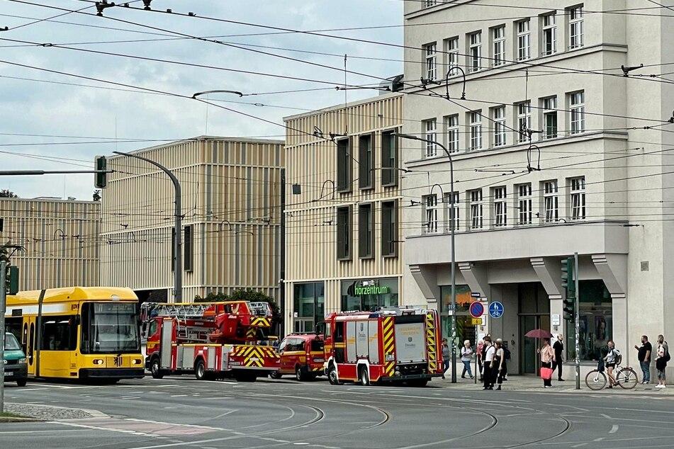 Das Gebäude wurde geräumt.