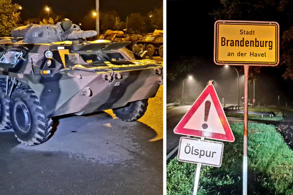 Rumänische Panzer verlieren Flüssigkeit auf zehn Kilometer langer Strecke