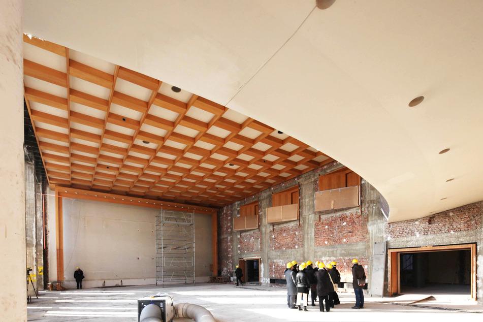 So sah der Rats-Saal während der Sanierung aus.