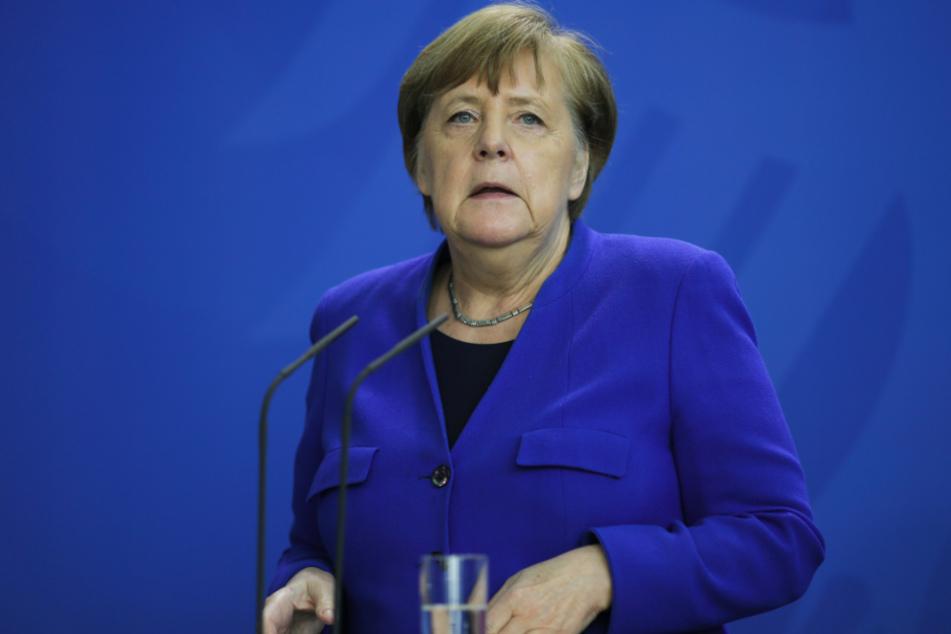 Merkel bei der aktuellen Konferenz.