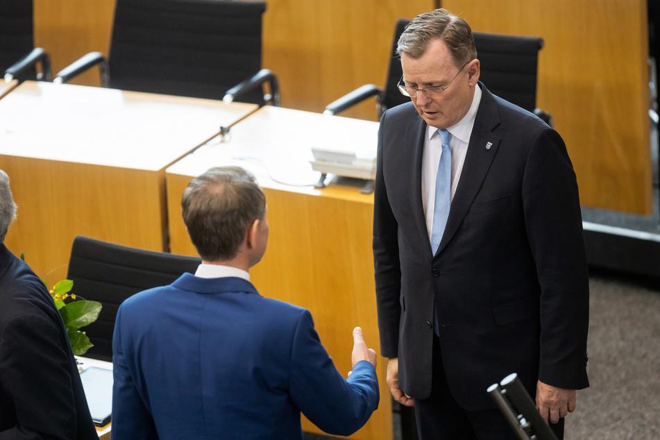 Thüringens Ministerpräsident Bodo Ramelow (64, Linke) verweigerte seinem Kontrahenten Björn Höcke (47, AfD) den Handschlag.