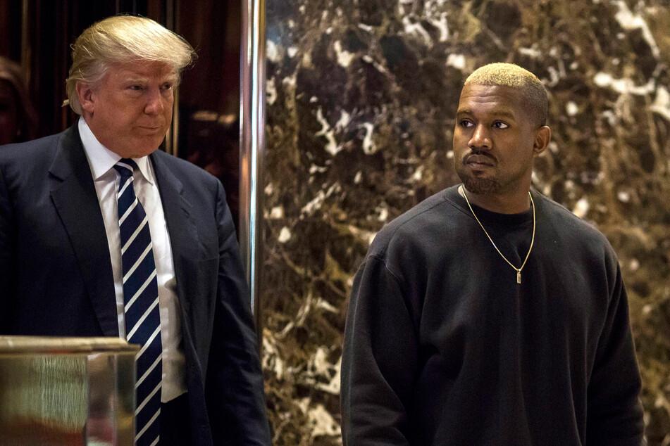 Wird Kanye West (43, r.) Donald Trumps (74) Nachfolger? (Archivbild)