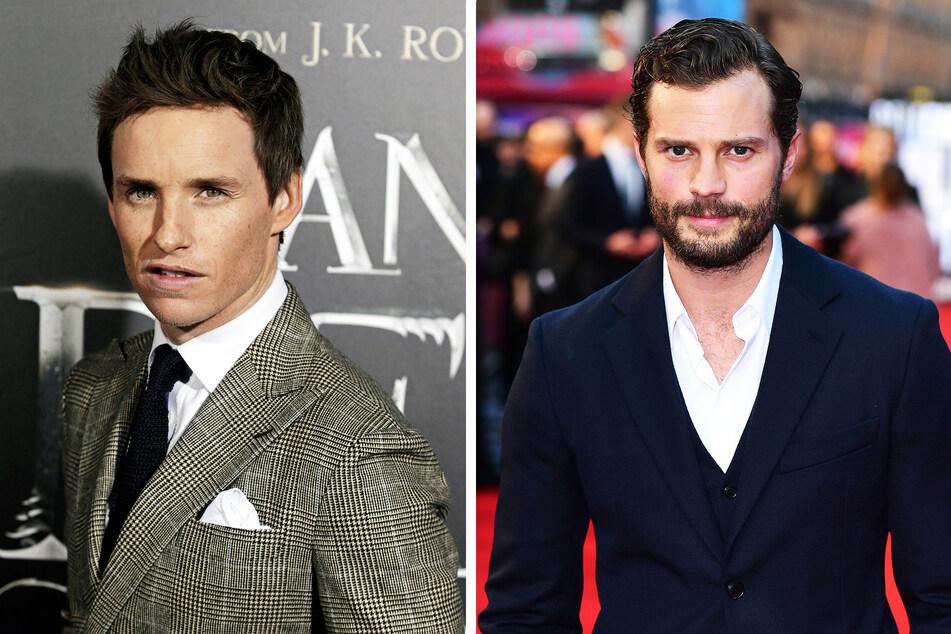 """Oscar-Preisträger Eddie Redmayne (l., 39, """"Fantastic Beasts"""") und Schauspieler Jamie Dornan (38, """"Fifty Shades of Grey"""")."""
