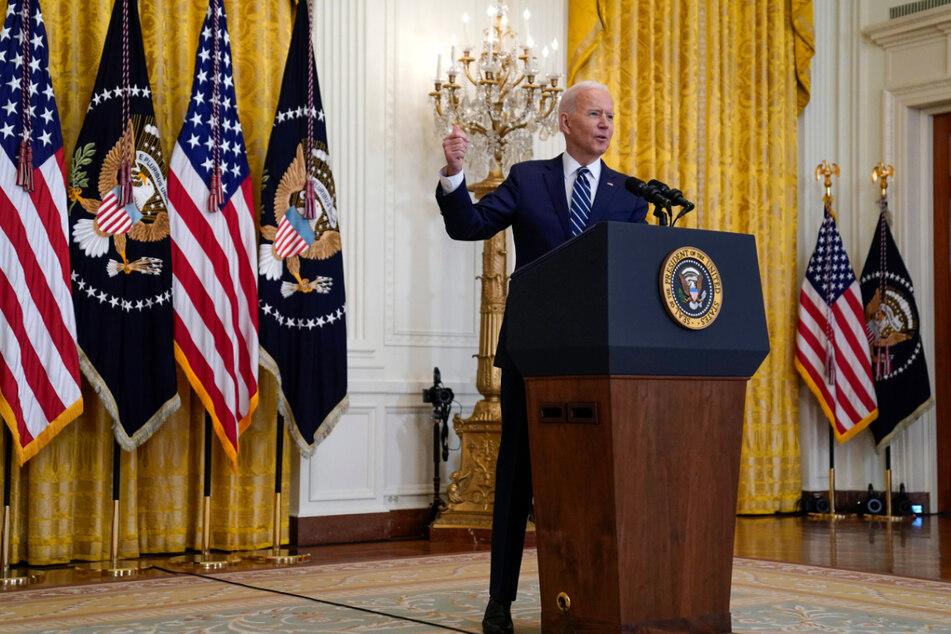 Erste Pressekonferenz im Weißen Haus: Joe Biden spricht schon von Wiederwahl