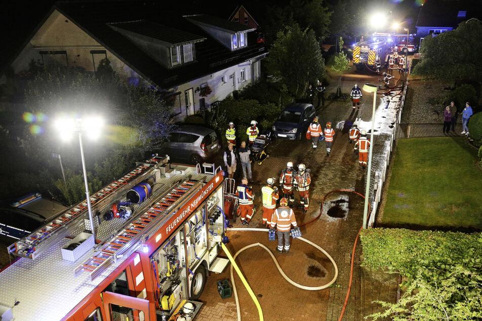 Etwa 70 Feuerwehrleute waren im Einsatz.